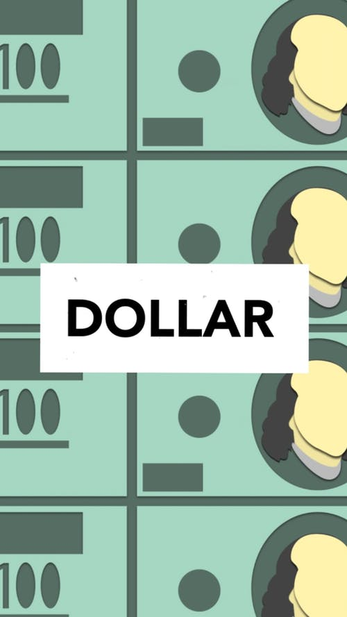 Dollar Text In Vector Background