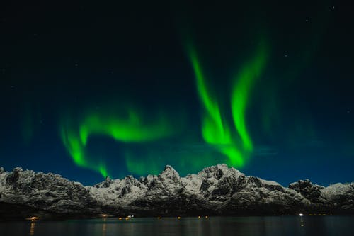 Scenic View of Northern Lights in Norway