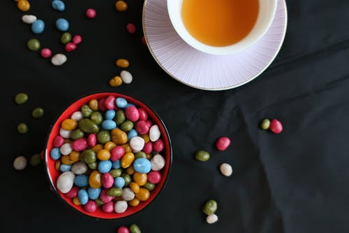 Free stock photo of black, candle, candy, cup