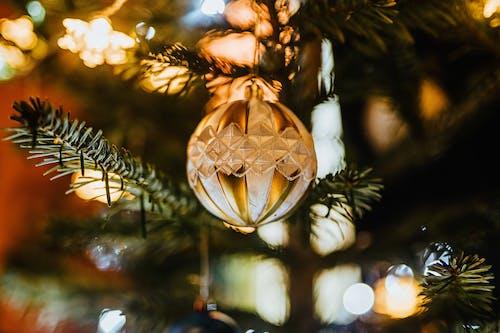 Macro Shot of a Christmas Ball