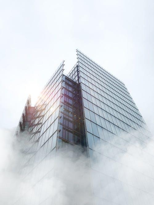 High Rise Glass Building Under Blue Sky