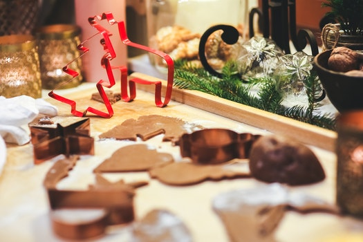 Making Gingerbread Cookies. Christmas Cookie Cutters.