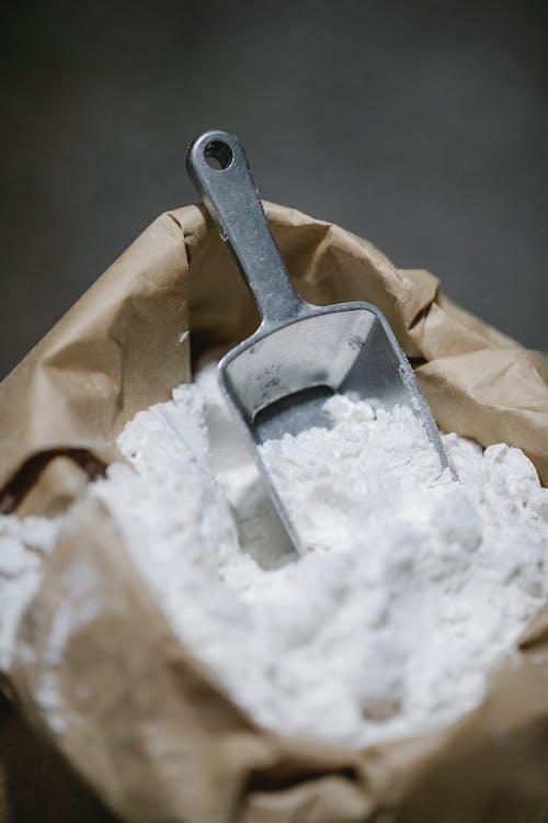 Craft bag with flour and shovel
