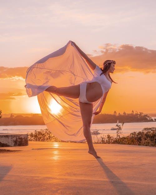 Бесплатное стоковое фото с багровое небо, Балерина, балет