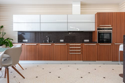 Interior of contemporary kitchen in flat