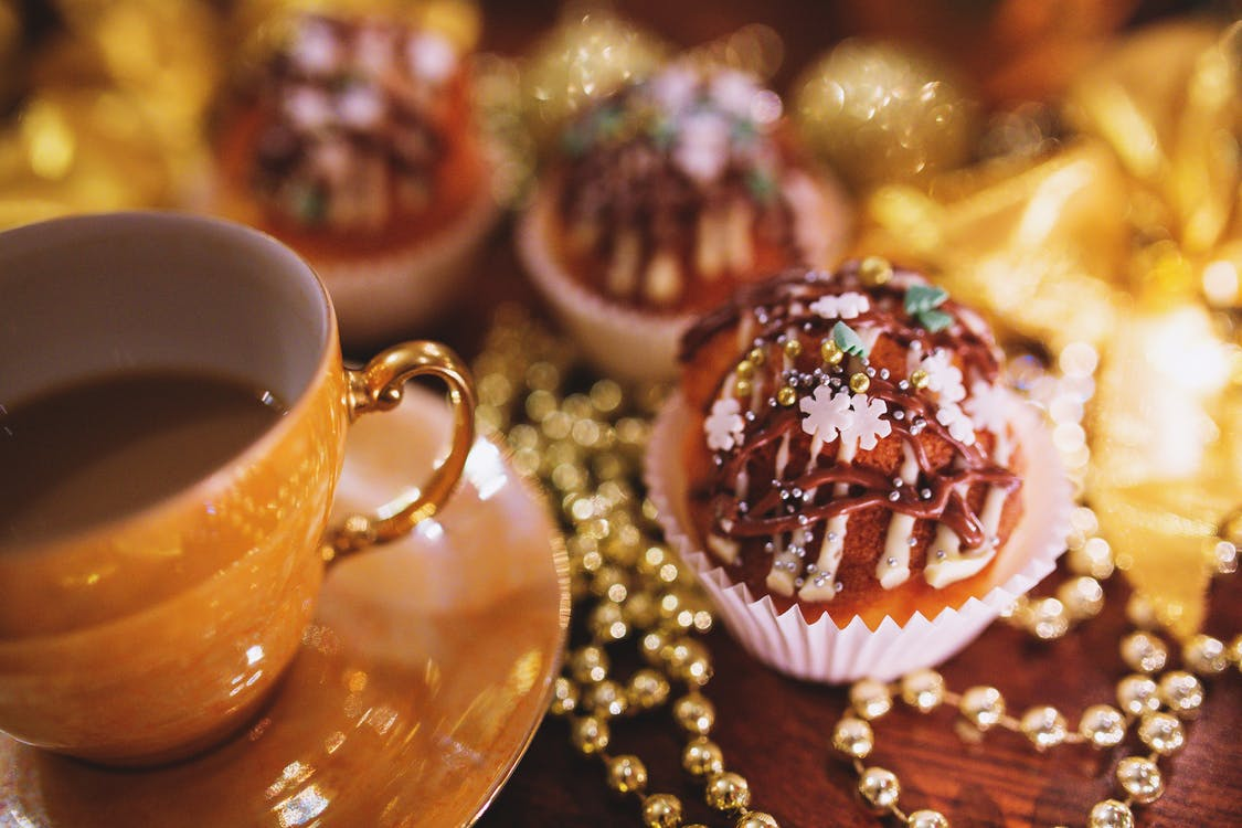Christmas Cupcake & Coffee