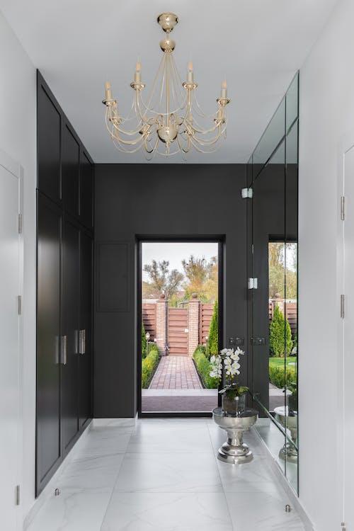 Modern corridor with door in flat