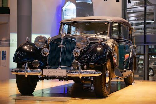 A Vintage Car in Showroom