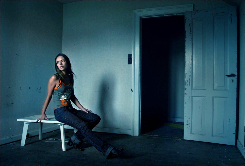 abandoned, alone, door
