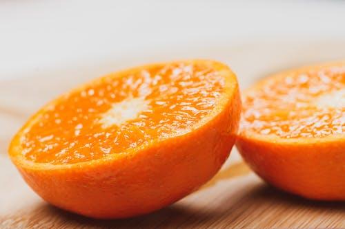 A Close-Up Shot of a Sliced Orange Fruit