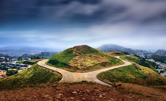 Free stock photo of road, landscape, hill, usa