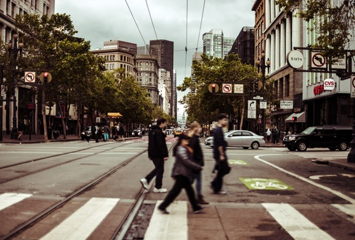 Free stock photo of city, crossing, road, traffic