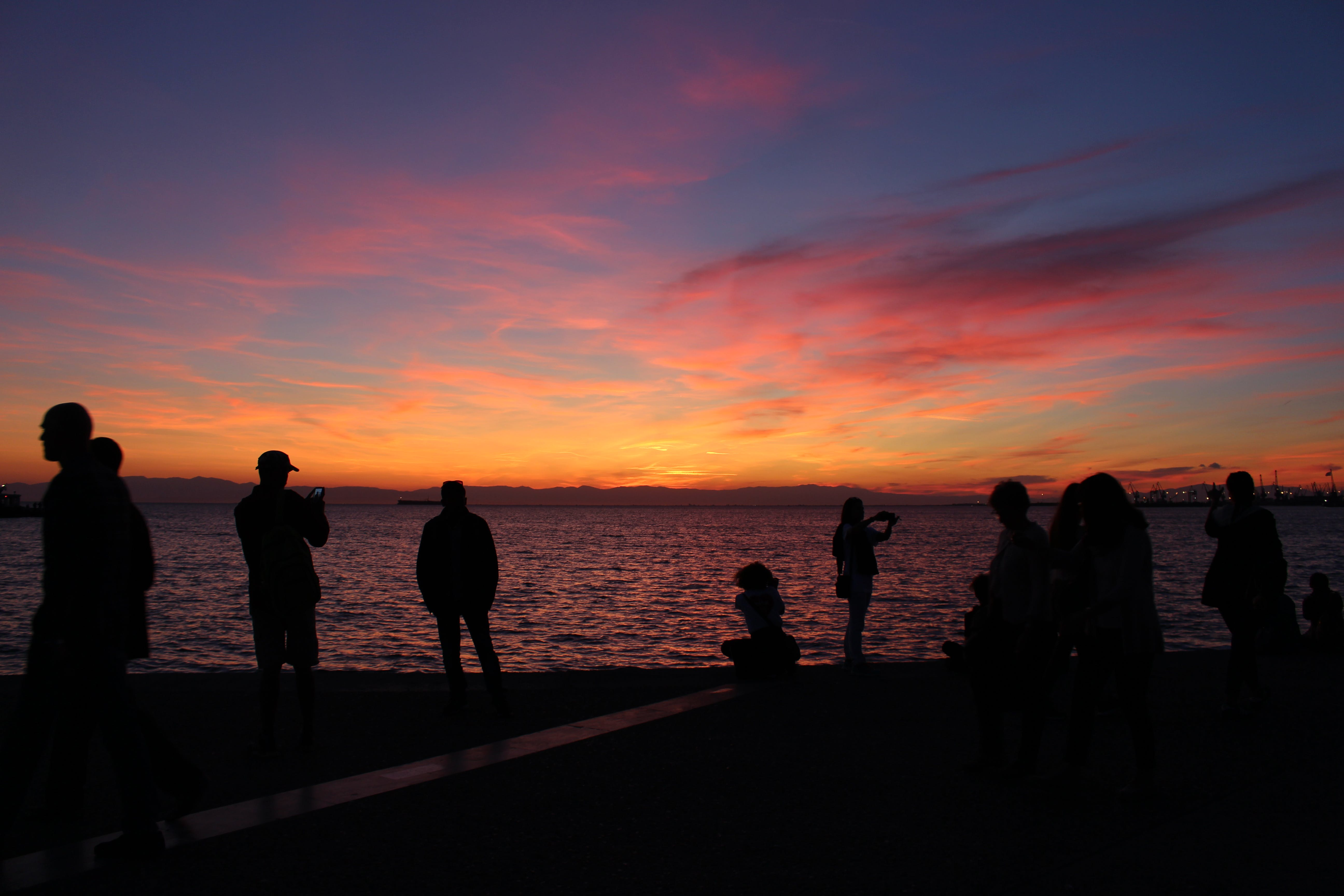 Free stock photo of greece, people, port, sea