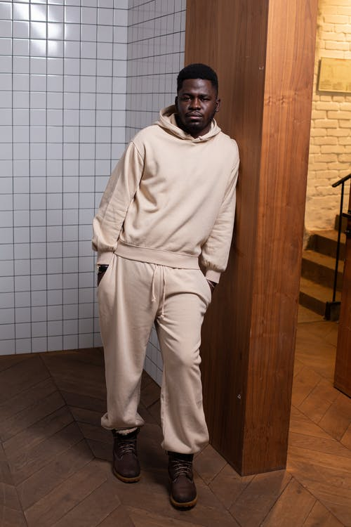 Stylish black man in sportive outfit