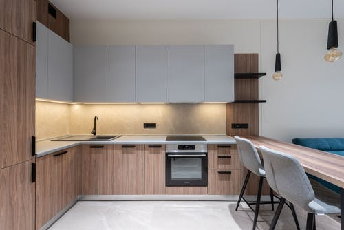 Interior kitchen with dining zone