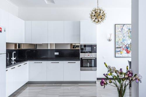 Stylish kitchen interior design with appliances