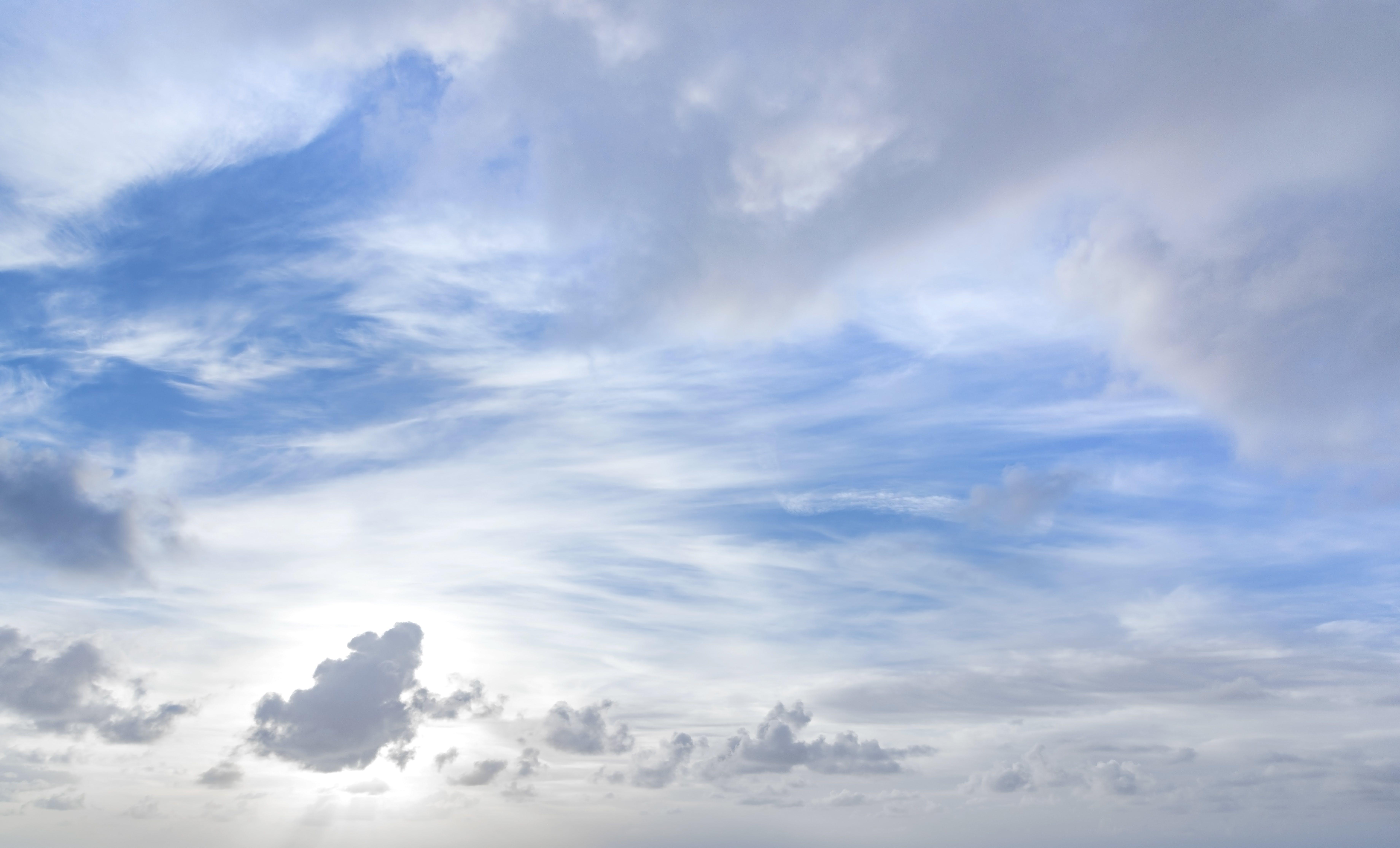 Foto stok gratis alam, awan, bentangan awan, cerah