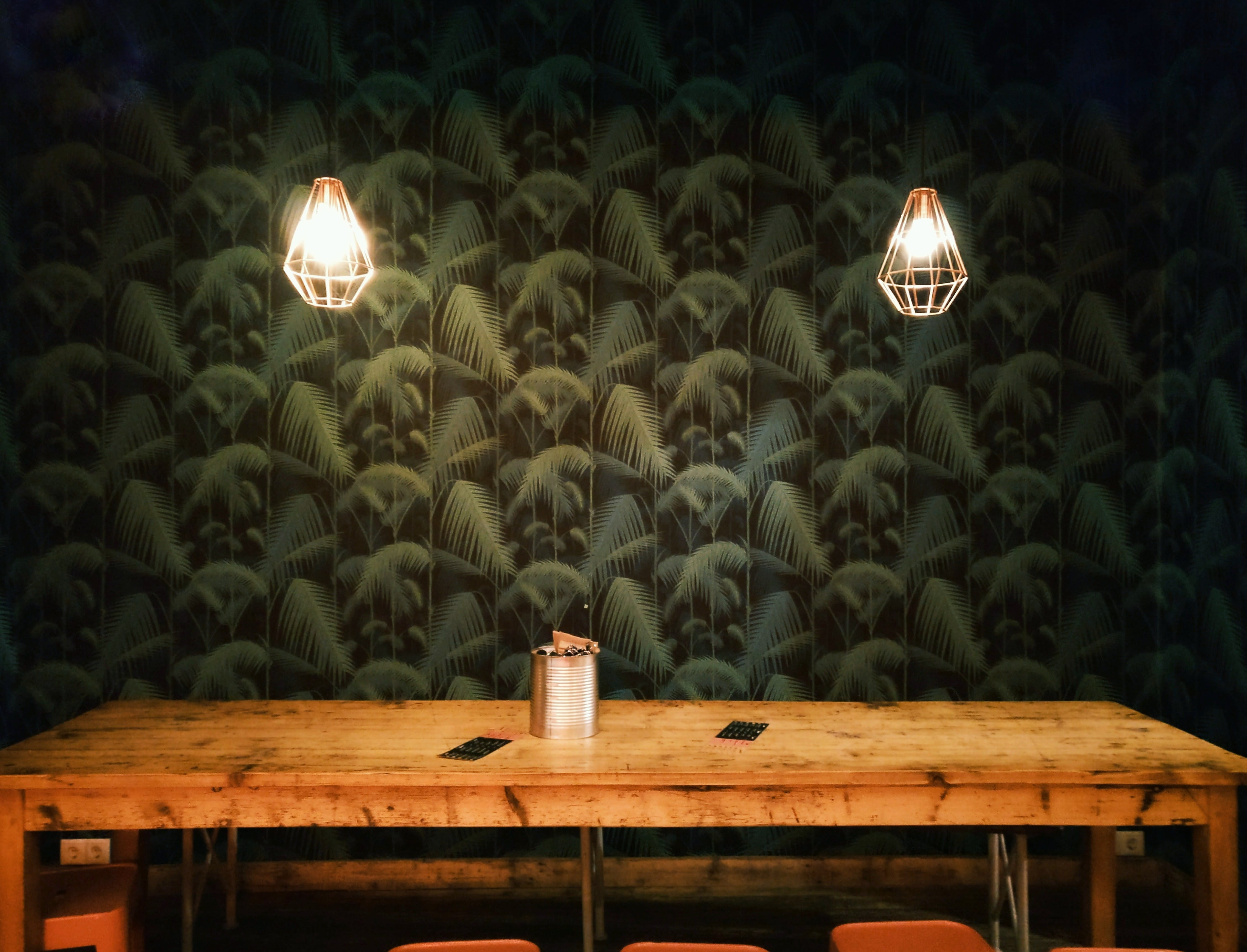 Free stock photo of wood, lights, table, rustic
