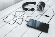 schwarz und weiß, smartphone, technologie