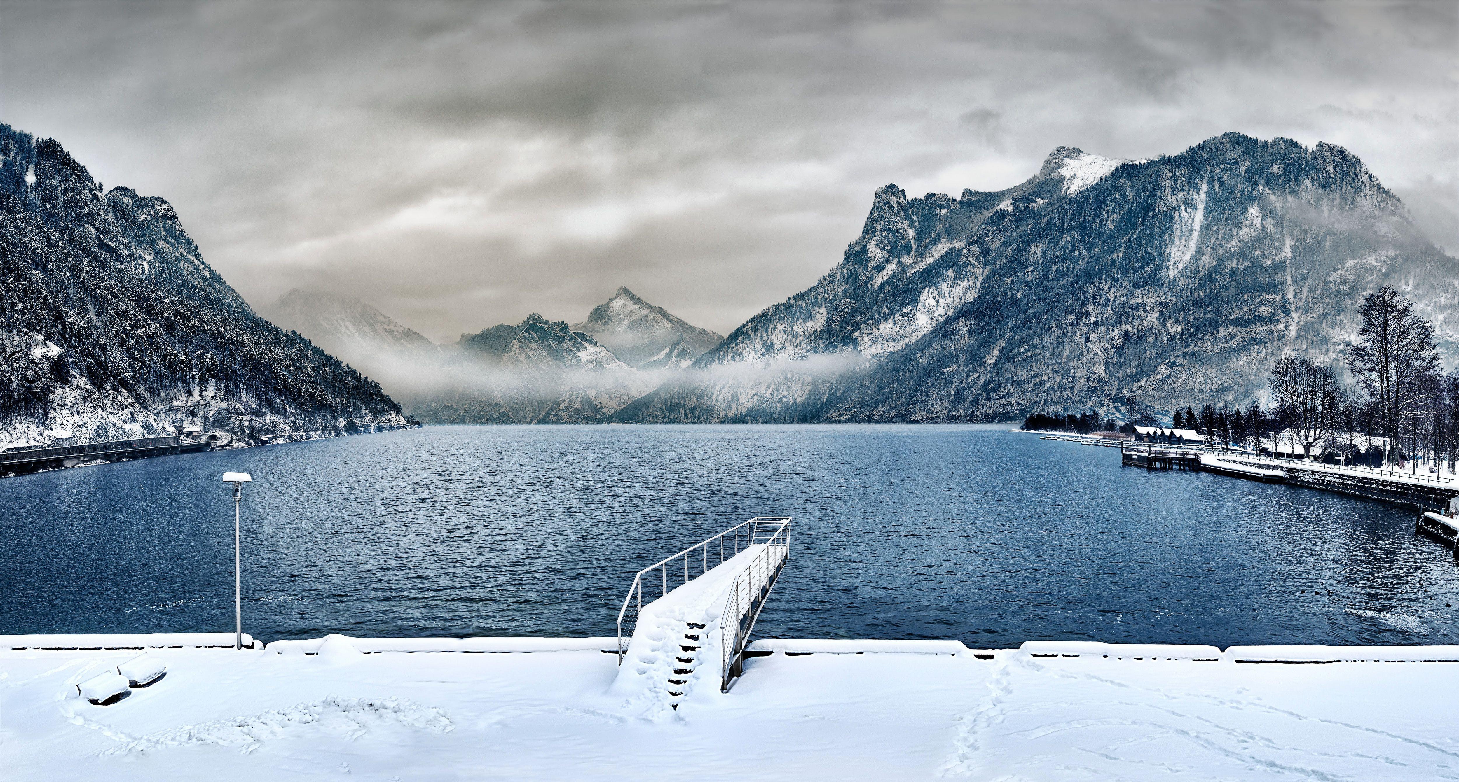 Foto stok gratis air, alam, awan, beku
