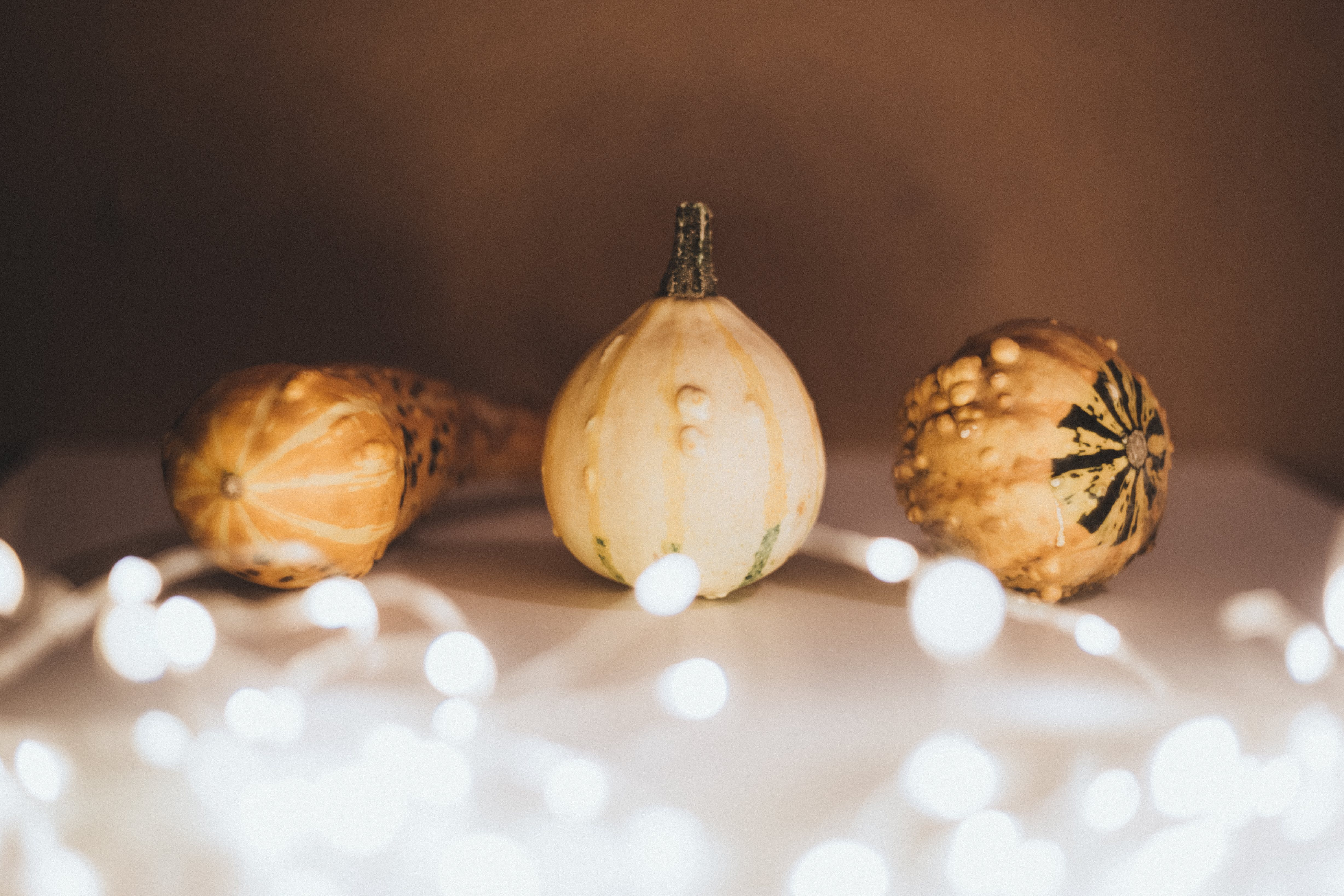 Selective Focus Photography of Three Gourd Vegetables