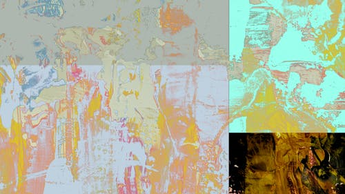 Abstract Painting of Different Colors