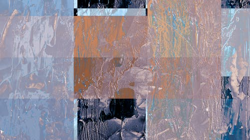 Abstract Painting with Different Hue