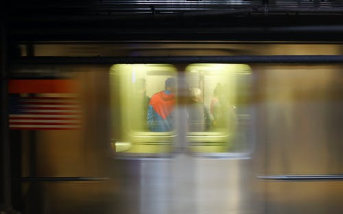 Free stock photo of glimpse, Manhattan Subway, speeding trains