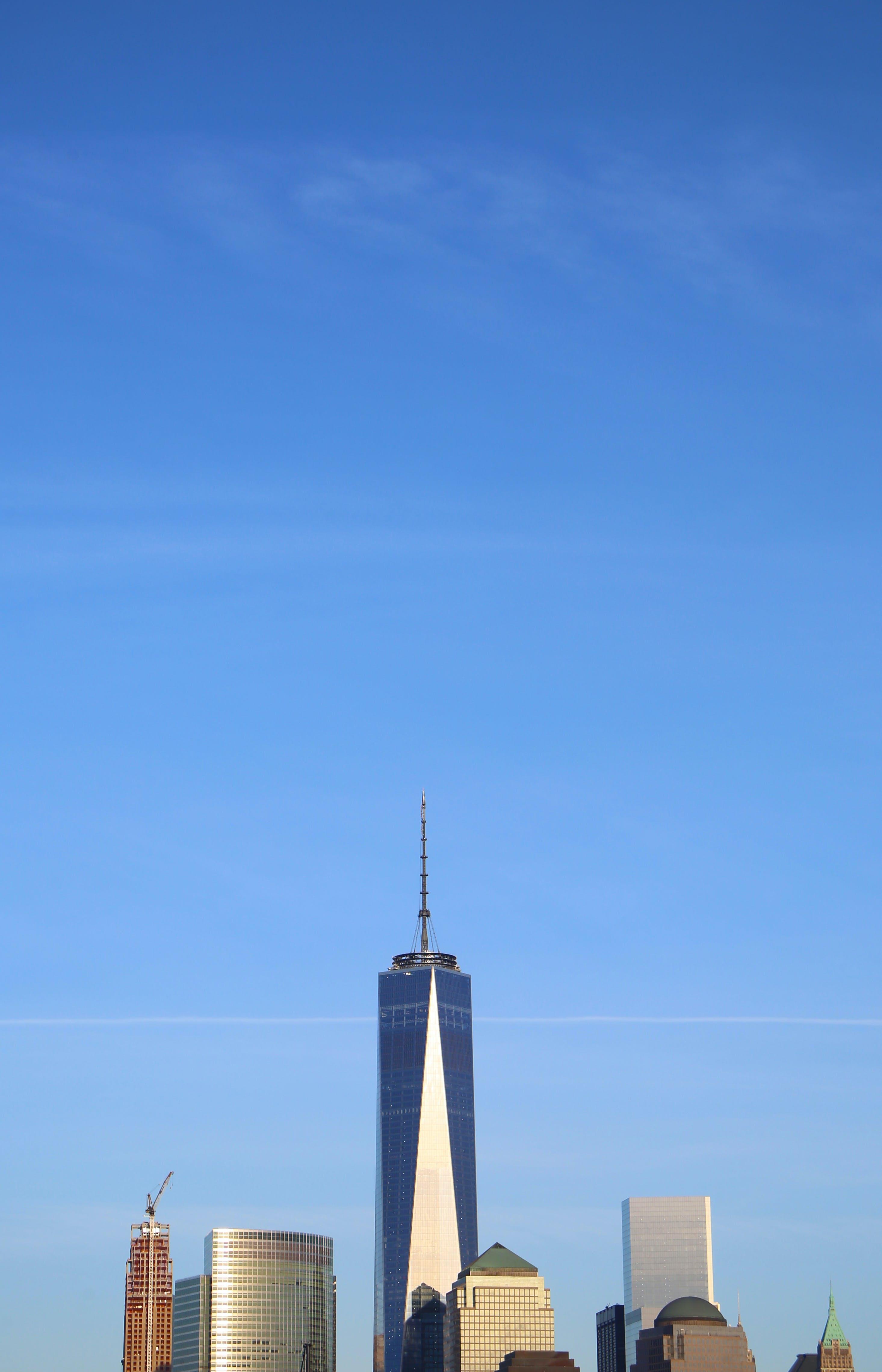 Бесплатное стоковое фото с башни, башня свободы, горизонт нью-йорка, манхэттен архитектура