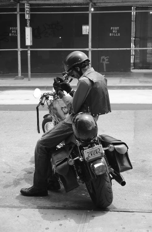 Free stock photo of biker, brooklyn biker, motorbike