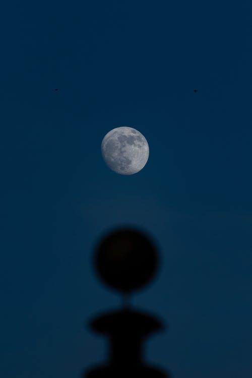 Full Moon on Blue Sky