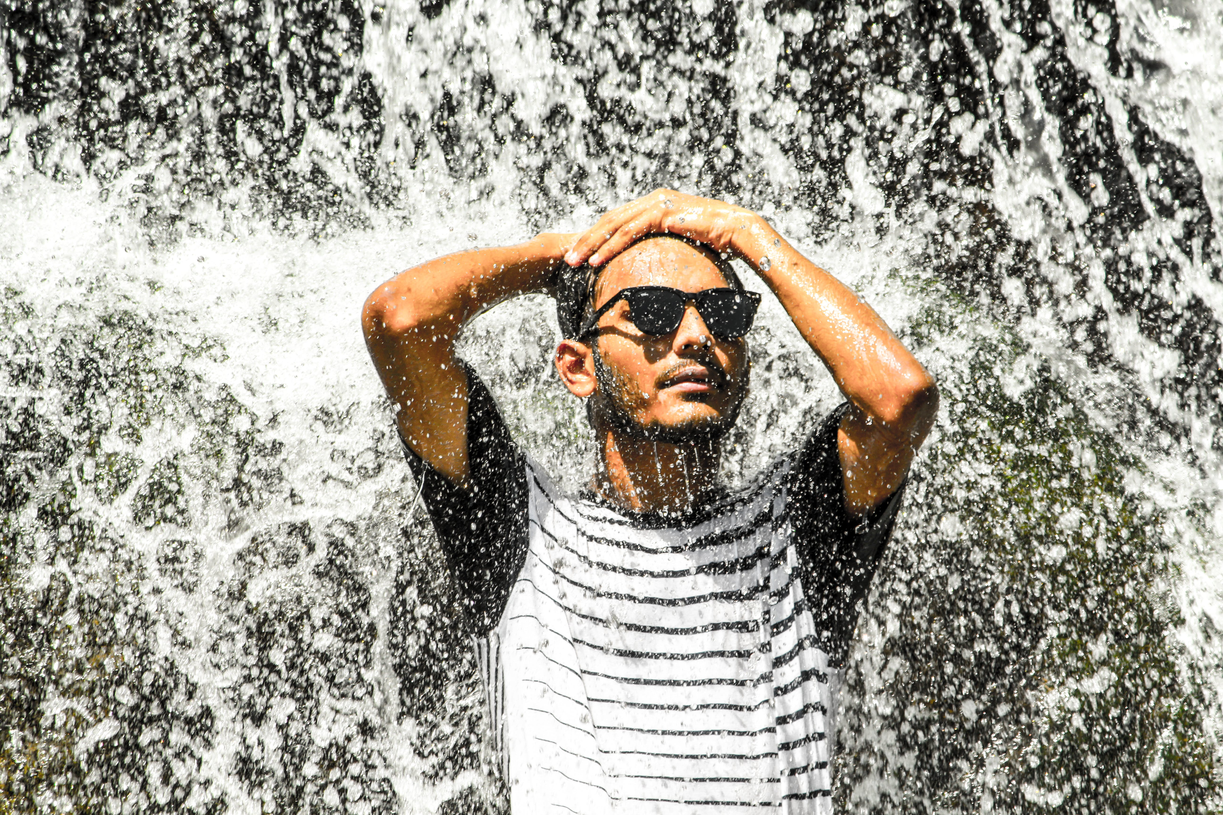 Free stock photo of man, person, sunglasses, water