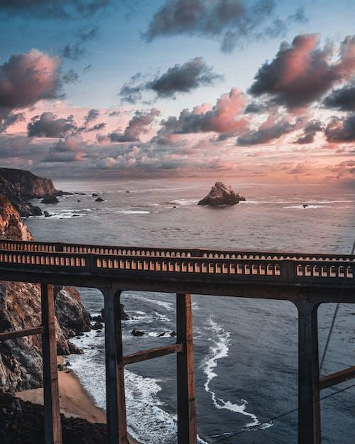 Gratis lagerfoto af æstetisk, aften, anløbsbro