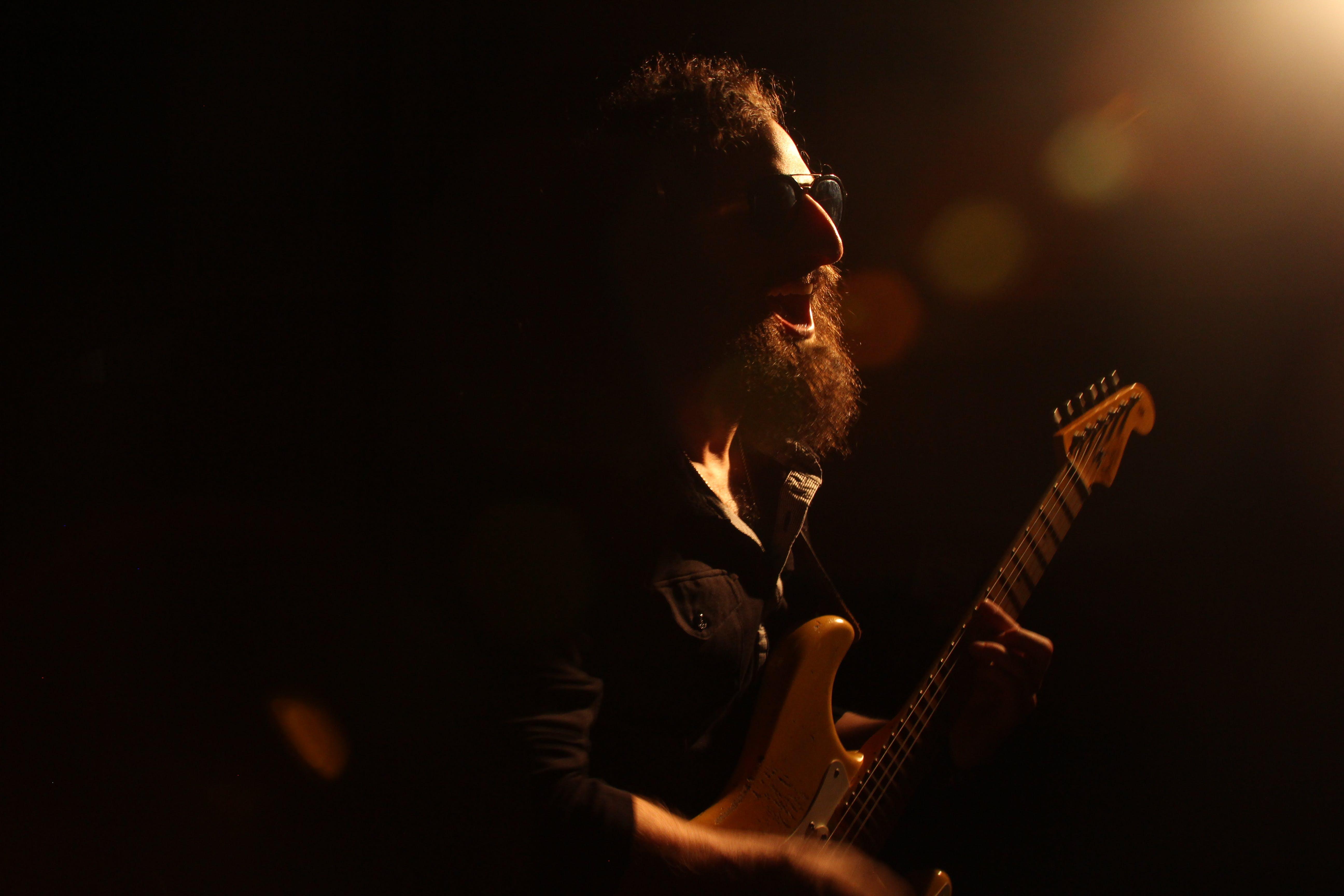 elektrisk guitar, guitar, guitarist