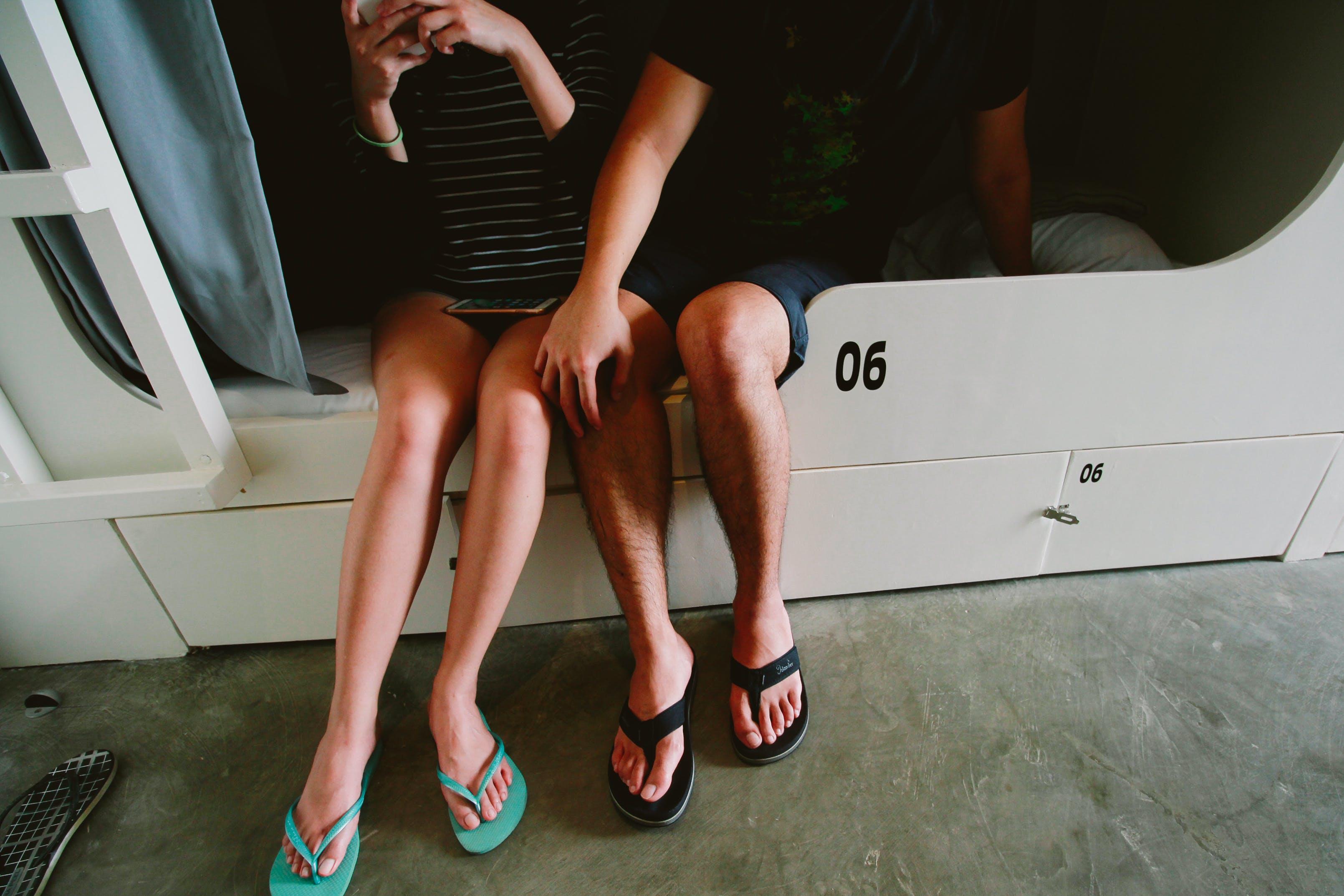 Free stock photo of couple, legs
