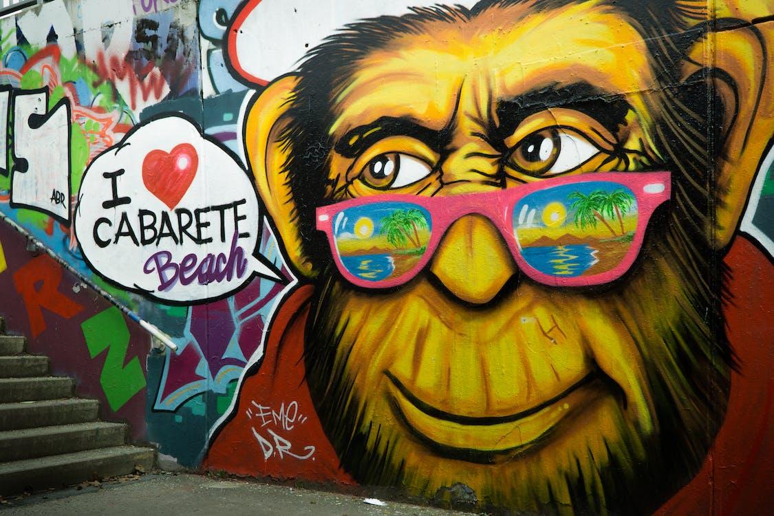 art, art de graffiti, art mural