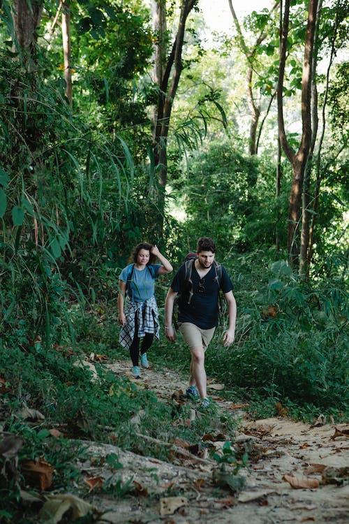 2 Femmes Debout Sur La Forêt