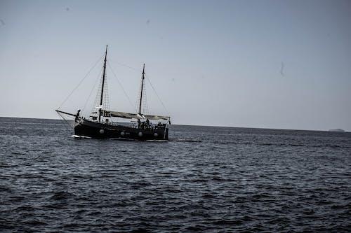 monchrome, 帆船, 气氛, 海 的 免费素材照片