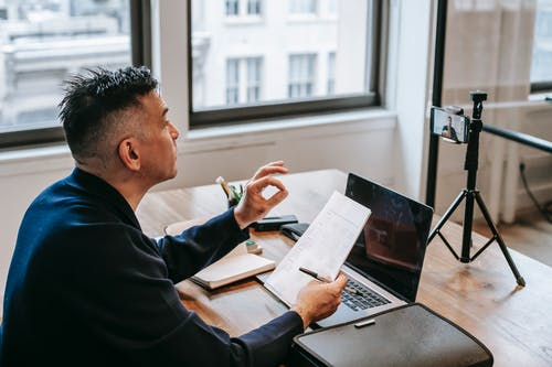 Photo Of Man Having An Online Education Session