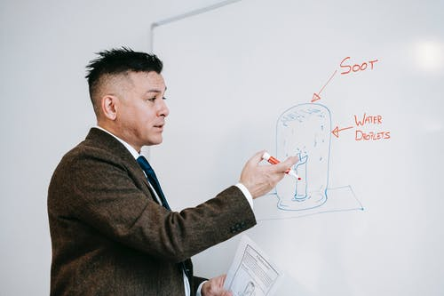 Photo Of Man Pointing In The Whiteboard