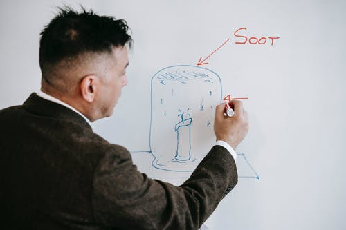 Photo Of Man Discussing On White Board