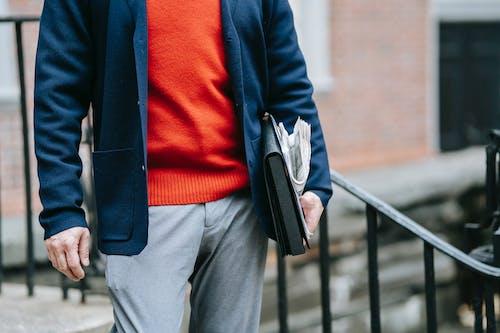 Photo Of Man Wearing Blue Blazer