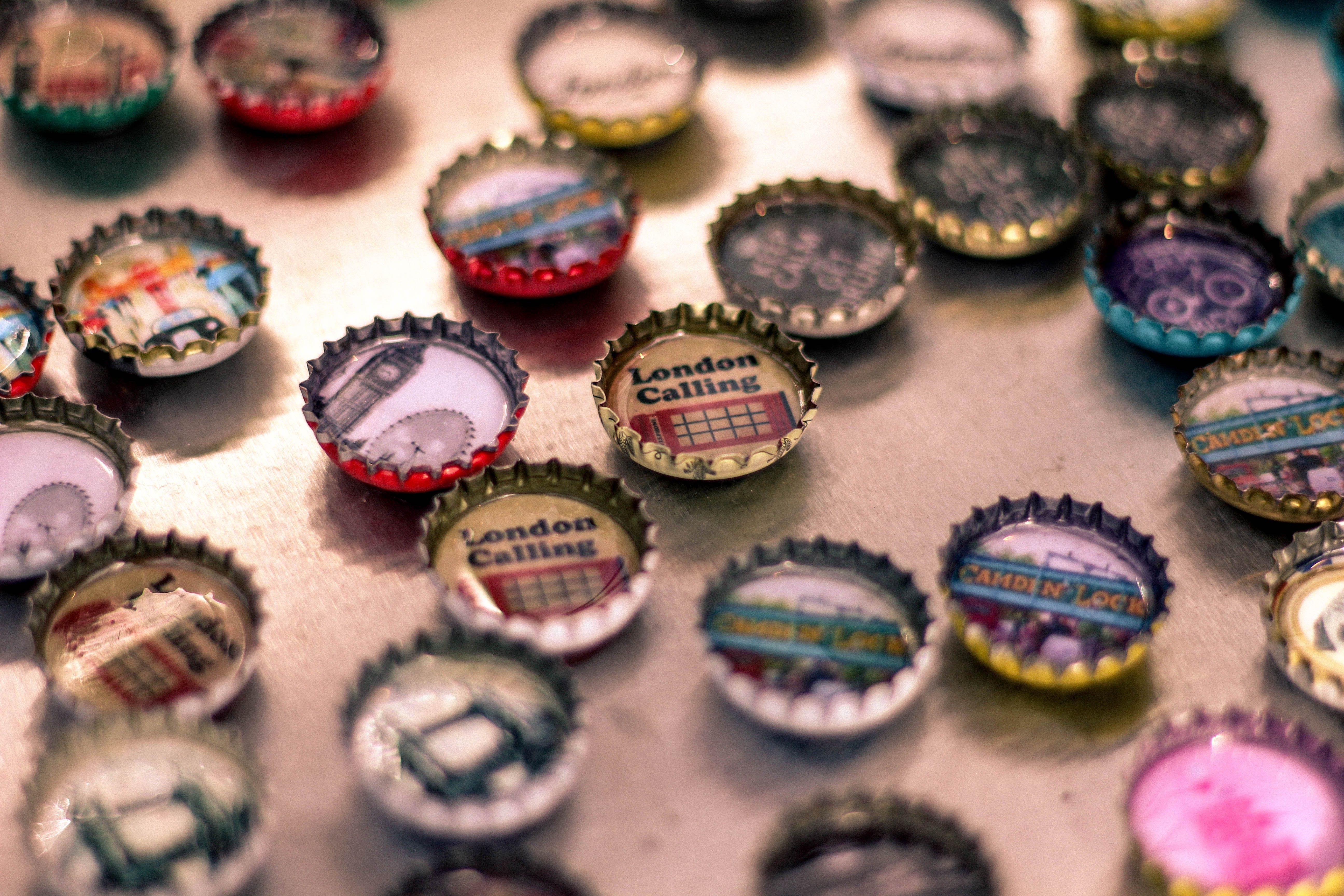 bottle caps, decoration, design