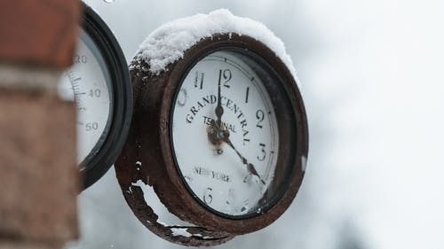 Free stock photo of clock, cold, frost, grand central terminal