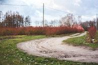 road, sand, village