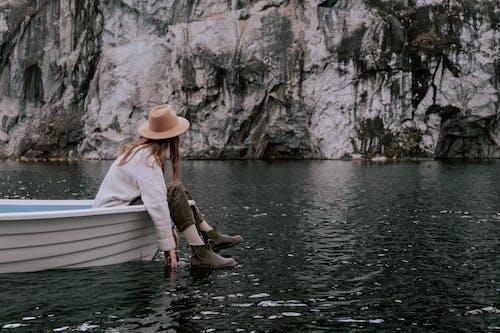 Gratis arkivbilde med anonym, avslapping, båt