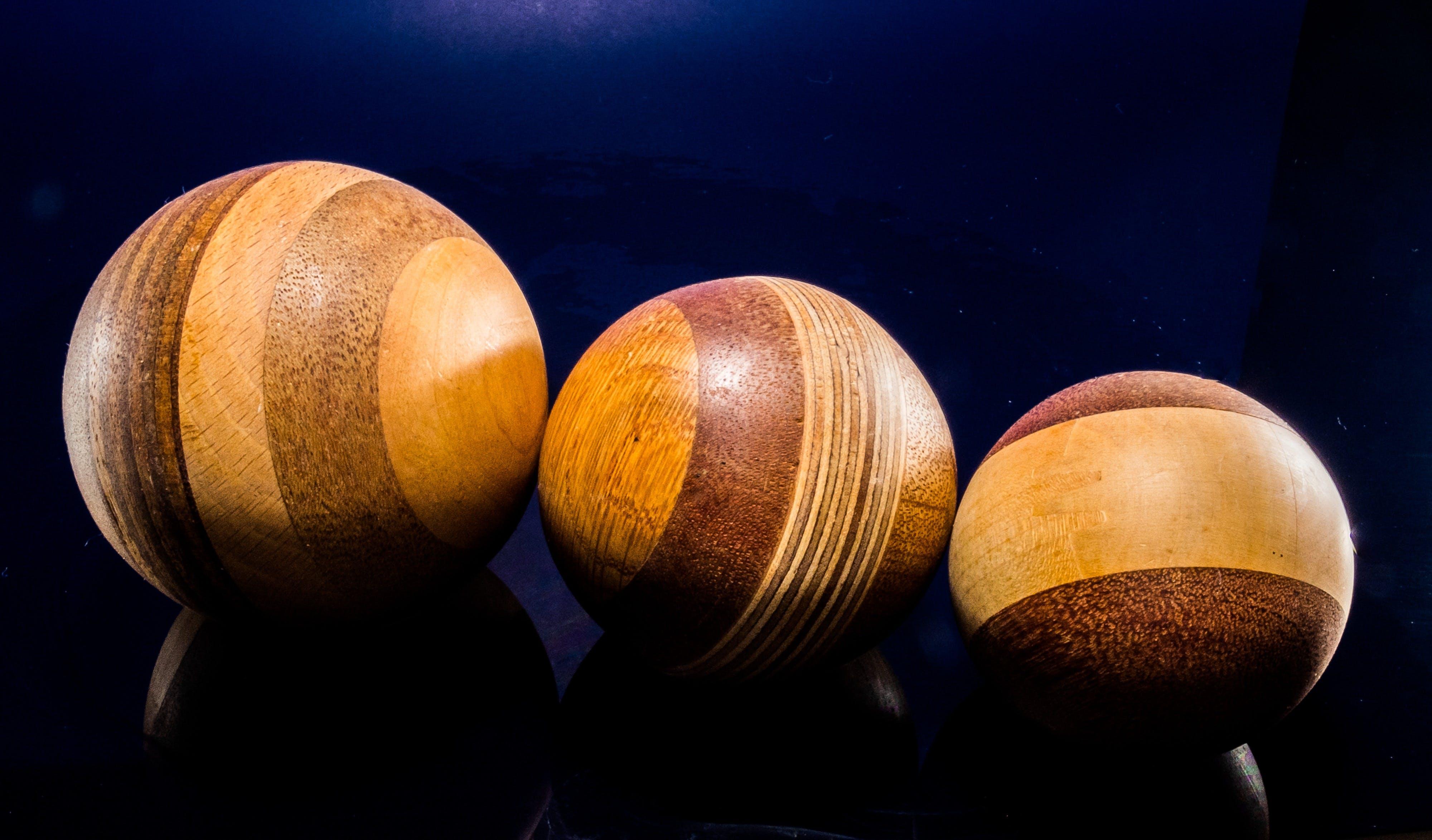Brown Wooden Ball