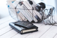 smartphone, books, contacts