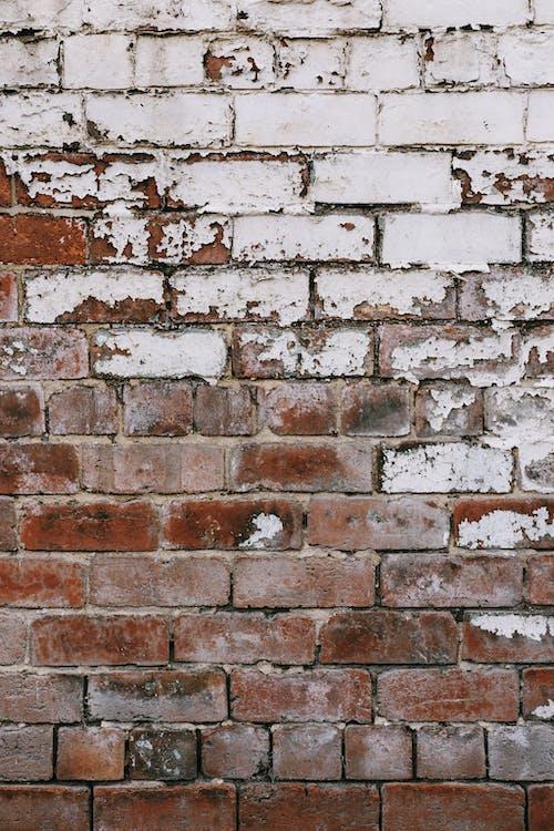 Dinding Bata Coklat Dan Putih