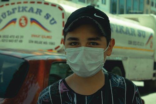 Ingyenes stockfotó álló kép, arc maszk, covid-19 témában